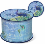 Peacock Soap in Blue Spool Box