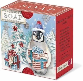 Penguin Present Pleat-Wrapped Soap