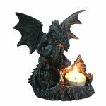Perching Dragon Candle Holder