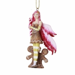 Pink Gingerbread Fairy Ornament
