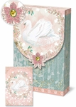 Pink Swan Decorative Pouch Notecards