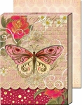 Pink Swirl Butterfly Diecut Pocket Note Pad
