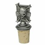Pirate Skull Bottle Stopper