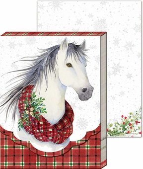 Plaid Horse Pocket Notepad