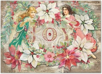 Poinsettia Angels Christmas Cards