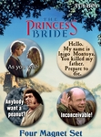 The Princess Bride 4 Magnet Set