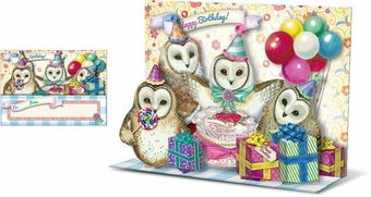 Birthday Owls Pop-Up Card