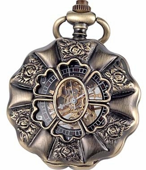 Pumpkin Rose Pocket Watch