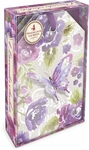 Purple Butterfly Linen Lavender-Scented Sachets