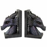 Purple Dragon Bookends