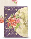 Purple & Gold Floral Mini Portfolio Notepad