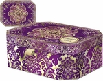 Purple & Gold Octagon Music Box