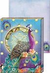 Purple Peacock Diecut Pocket Note Pad