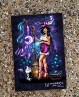 Purrfect Spell Witch Journal by Brigid Ashwood