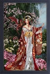 Queen of Silk Framed Print