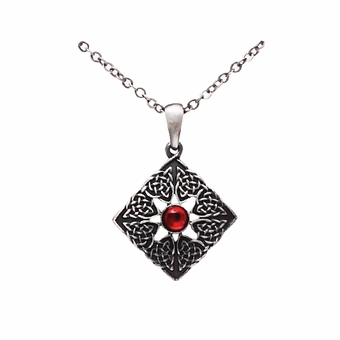 Red Gem Celtic Necklace