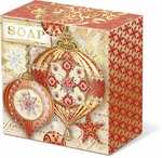 Red & Gold Ornaments Wrapped Soap