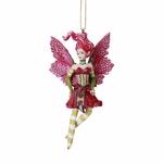 Redhead Poinsettia Fairy Ornament