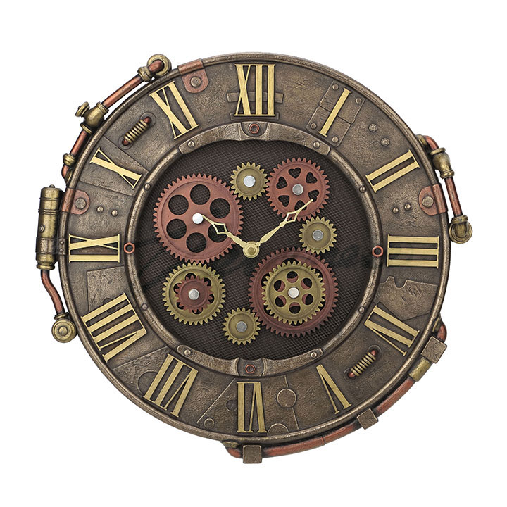 Riveted Plate Wall Clock Steampunk Gifts Amp Collectibles