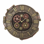 Riveted Plate Wall Clock