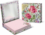 Rose Bouquet Compact Mirror with Note Pad