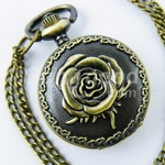 Rose Pocket Watch Necklace