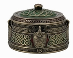 Round Celtic Trinket Box
