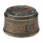 Round Odin Viking Trinket Box