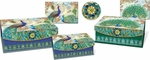 Royal Peacock Small Nesting Embellished Flap Boxes