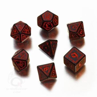 Runic Black & Red Dice