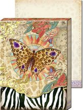 Safari Butterfly Diecut Window Pocket Note Pad