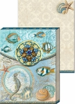 Seascape Brooch Mini Notepad