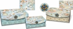 Seascape Small Nesting Embellished Flap Boxes
