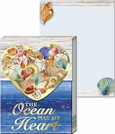 Seashell Heart Pocket Notepad
