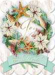 Seashell Wreath Christmas Cards