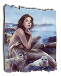 Selkie Tattered Wood Print