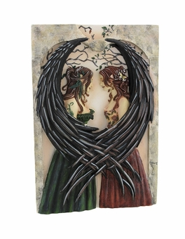 Sisters Fairy Wall Plaque