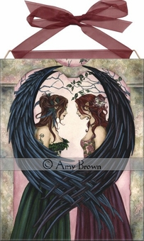 Sisters Fairy Art Tile by Amy Brown