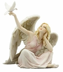 Sitting Angel with Dove