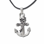 Skull Anchor Necklace