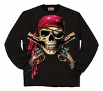 Skull & Muskets Long Sleeve Pirate Shirt - 3XL