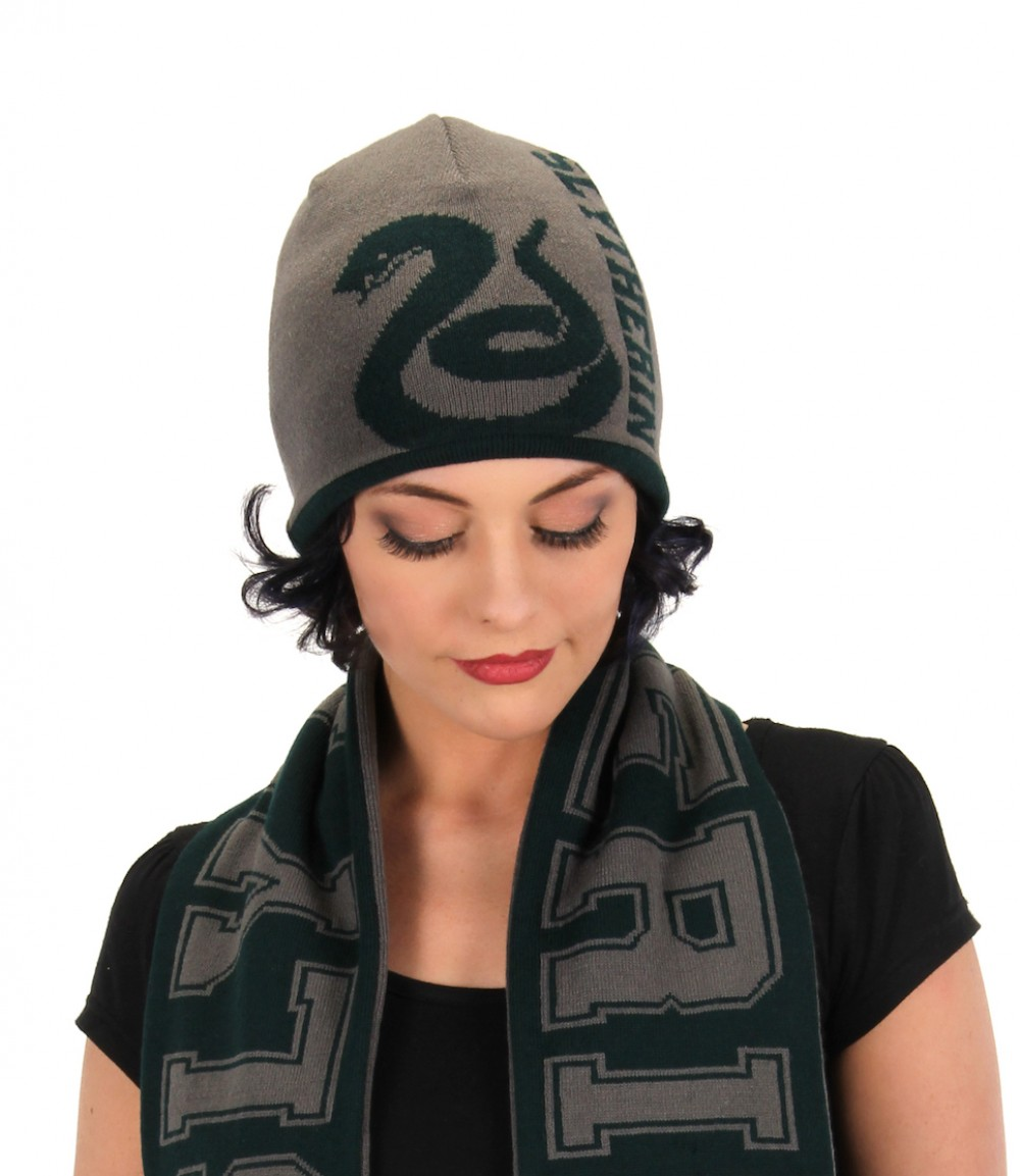 Slytherin Reversible Knit Beanie  Slytherin Reversible Knit Beanie ... 70e766bd75d