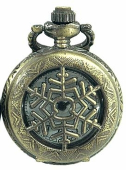 Snowflake Pocket Watch Necklace