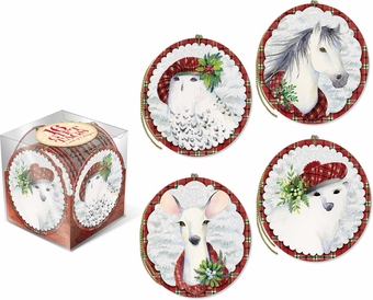 Snowy Friends Gift Tag Cube