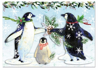 Snowy Penguins Christmas Cards