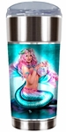 Spring Flowers Mermaid Travel Mug