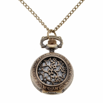 Star Pocket Watch Necklace