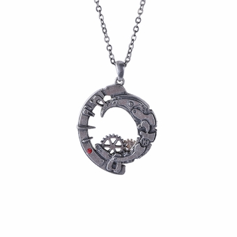 Steampunk Crescent Necklace