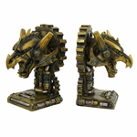 Steampunk Dragon Bookends
