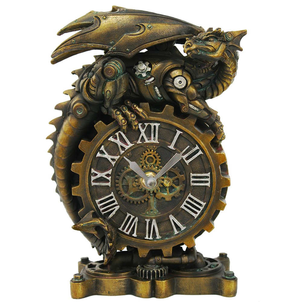 Ring In The Steampunk Decor To Pimp Up Your Home: Steampunk Dragon Desk Clock: Dragon Gifts & Collectibles